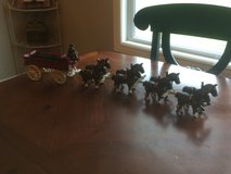 Cast Iron Wagon and Horses in Fort Leonard Wood, Missouri