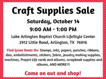 Craft Supplies Sale in Arlington, Texas