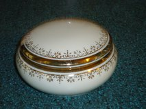 gold trimmed trinket box 3-1/2w x 2H in Naperville, Illinois