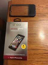 I phone 6 otterbox & glass screen protector in Shorewood, Illinois