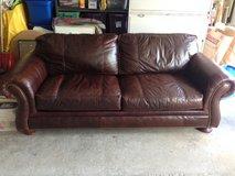 Brown Leather Sofa in Glendale Heights, Illinois