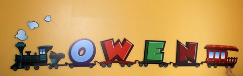 """Owen"" 3D train decal Wall Art for Nurseries, Bedrooms, Playrooms by Zwalls in Waukegan, Illinois"