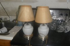 2 VERY OLD MILK STAIN GLASS LAMPS in Fort Campbell, Kentucky