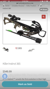 Killer instinct crossbow in Las Cruces, New Mexico