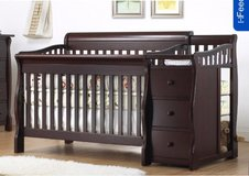 sorelle Princeton 4 in 1 crib w/ Sealy gel mattress in Cleveland, Texas