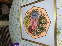 Hand embroidered framed picture in Conroe, Texas