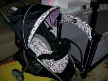 Matching Pack and play,Stroller and Car Seat with Base in Warner Robins, Georgia