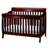 4 in 1 Convertible Crib in Espresso Cherry in Waukegan, Illinois