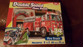 Fire Truck Double Sided Floor Puzzle in Wheaton, Illinois