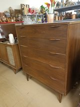 Mid Century Modern Danish Teak? 5 drawer chest of drawers in Naperville, Illinois