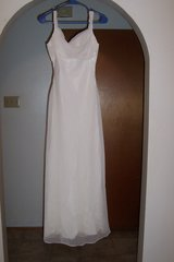 White Long Dress with built in bra in The Woodlands, Texas