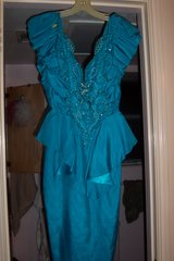Blue beaded low cut evening dress in Kingwood, Texas