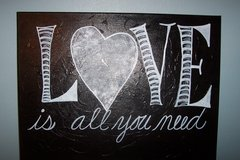 Love is all you need painting in Kingwood, Texas