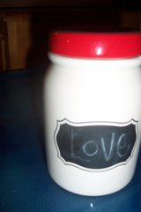decorative glass milk jar in Conroe, Texas
