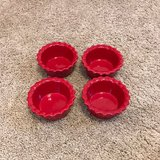 set of 4 red ramikans in Oswego, Illinois