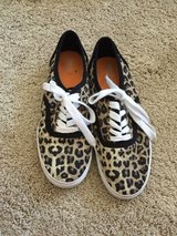 Woman's cheetah tie up shoes in Aurora, Illinois