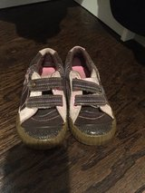 Stride Rite Velcro shoes with flowers on them, size 9 in Aurora, Illinois