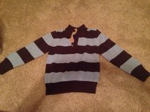Boys brown and blue striped sweater, size 5/6. in Oswego, Illinois