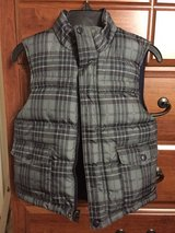 Boys reversible winter vest, size 6. The other side is navy blue in Oswego, Illinois