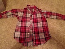 Boys red plaid button up shirt from The Gap, size 4/5 in Oswego, Illinois