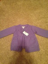 BRAND NEW purple button up sweater, size 18 mths in Oswego, Illinois