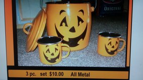 metal kettle and 2 cups in League City, Texas