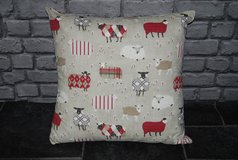 "20"" scatter cushion .... sheep in Lakenheath, UK"