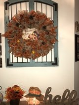 fall wreath in Wilmington, North Carolina