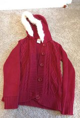 Gymboree red hooded sweater, size 5/6 in Oswego, Illinois