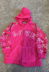Girls LOVE hooded zip up, size 4 in Bolingbrook, Illinois