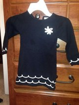 Maggie and Zoe black and white sweater dress, size 2T in Oswego, Illinois