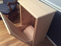 Wood tip-out trash cabinet (dog food, laundry, etc). NEW in Fort Belvoir, Virginia