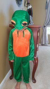 Halloween toddler frog costume in Naperville, Illinois