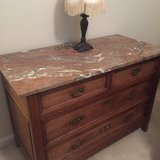 3 Piece Set/ Solid Wood/Dresser/Marble/France in Clarksville, Tennessee