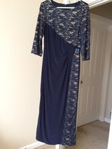 Navy evening gown in Olympia, Washington