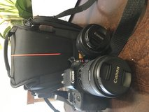 Canon EOS Rebel SL1 with lense, plus an extra  lense (50mm)  and bag in Schofield Barracks, Hawaii