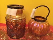PFALTZGRAFF GLASS DECORATIVE LANTERNS OR VASES in Chicago, Illinois