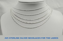 Silver Jewelry..Many Types..all NEW!! in Okinawa, Japan