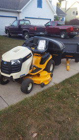 Cubcadet LTX1050VT Hydrostatic. Includes Bagger and pull behind cart in Naperville, Illinois
