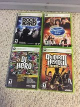 Xbox 360 games and guitars in Spring, Texas