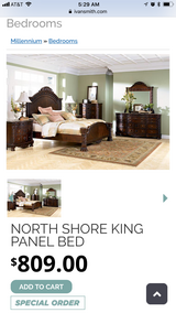 King size north shore bed frame & board in Fort Polk, Louisiana
