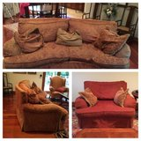 Sofa and oversized chair in Naperville, Illinois