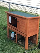 Large rabbit hutch in Lackland AFB, Texas