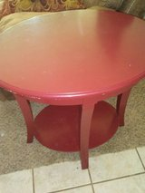 red accent table. in Lawton, Oklahoma