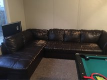 brown leather sectional in Travis AFB, California