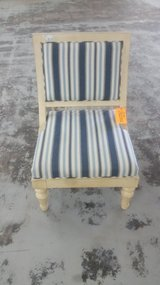 Blue striped chair in Camp Lejeune, North Carolina