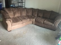 Ashely's Furniture 2pcs Microfiber Sectional (brown) in Pensacola, Florida