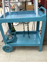 Turquoise rolling Bar cart in Fort Benning, Georgia