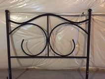 Black steel headboard double bed with bed frame in Toms River, New Jersey