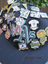 OAKLAND A'S PINS (45) AND 2 BASEBALLS in Fairfield, California